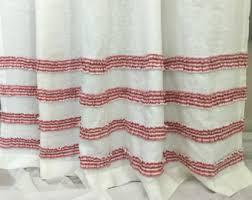 Custom Size Shower Curtains White Shower Curtain Etsy