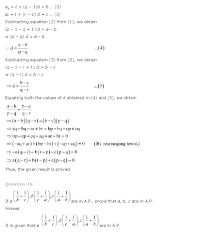 ncert solutions for class 11th maths chapter 9 u2013 sequences and