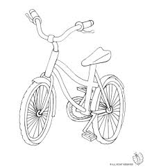 coloring page of bike for coloring for kids sketchue com