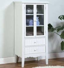 White Bathroom Cabinet With Glass Doors 20 Best White Bathroom Cabinet Images On Pinterest Bathroom
