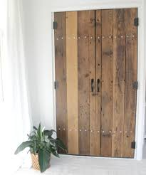 Diy Closet Door Diy Reclaimed Wood Closet Doors The Definery Co