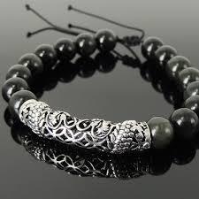 bracelet dragon rainbow images Handmade asian zodiac dragon bracelet black obsidian sterling jpg