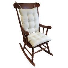 gracious gripper omega ivory jumbo rocking chair cushion set