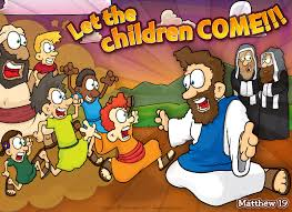 christian cartoon bible story illustrations let the children come