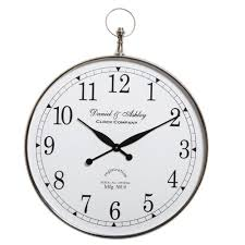 daniel and ashley wall clock nickel large home decor interiors