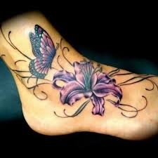 Flower Butterfly Tattoos 01 Pin By On Tattoos Butterfly Orchid