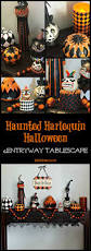 halloween tablescape a haunted harlequin halloween