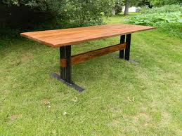 Antique Farm Tables by Hand Made Reclaimed Wood Table With Flat Iron Base By Antique
