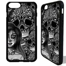 clown skull pin up rubber cover for iphone 5 6 6s