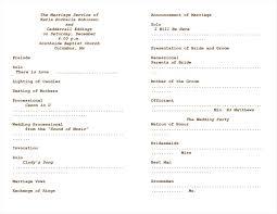 wedding church programs wedding ceremony order of service template free write happy ending