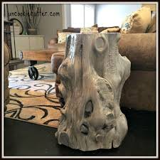 How To Make End Tables Out Of Tree Stumps by The 136 Best Images About Diy Tree Stump Projects On Pinterest