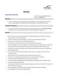 Software Testing 3 Years Experience Resume Qa Engineer 3 Years 4 Months Exp Resume