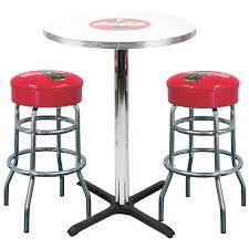 Retro Bar Table Coke Bar Table 2 Stool Set Millennium Seating Usa Restaurant