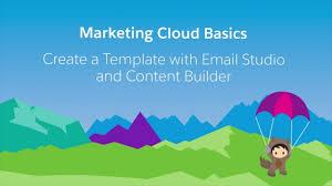 email studio u0026 content builder create a template youtube