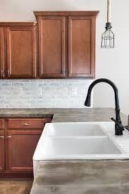 brick backsplash in kitchen gorgeous brick diy backsplash tutorials