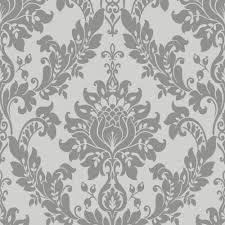 designer interiors damask wallpaper 35391