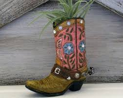 Cowboy Boot Planter by Boot Hanger Western Door Hanger Western Door Decor Cowboy