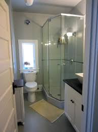 Cabin Bathrooms Ideas by Awesome Bathroom With Corner Shower Download Small Bathroom Ideas