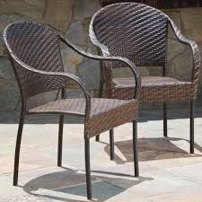 Outdoor Wicker Dining Chair Outdoor Dining Chairs Noble House Furniture