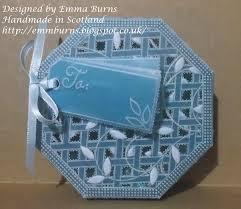 handmade in scotland groovi trellis parchment box
