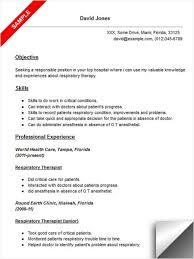 Radiation Therapist Resume Sample Certified Respiratory Therapist Resume Respiratory
