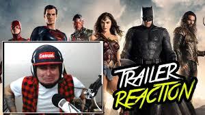 justice league justice league comic con trailer reaction youtube
