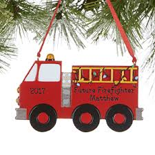 personalized firetruck ornaments future firefighter