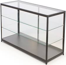 Black Display Cabinet With Glass Doors by 60