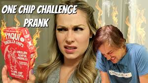Challenge Prank One Chip Challenge Prank Vs Husband World S Spiciest Chip