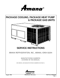 craftsman 48250 package unit service manual