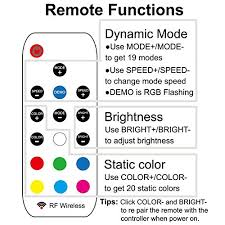 airgoo kit rgb computer led light with multi function