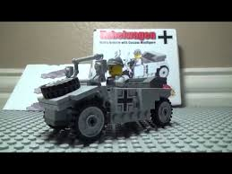 vw kubelwagen kit custom lego ww2 kubelwagen brickmania kit review youtube