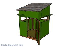 5x5 deer blind plans howtospecialist how to build step by