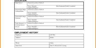 4 free employment application template budget template to free
