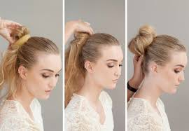 hairstyles with a hair donut how to make a donut bun