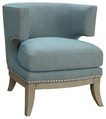 Barrel Accent Chair Unique Upholstered Accent Chair Barrel High Curved Back Nailhead