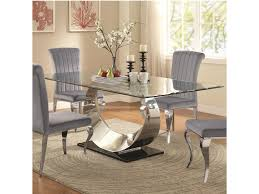 coaster manessier contemporary glass dining table lapeer