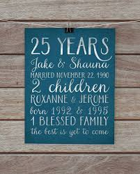 25 anniversary gift 25 anniversary gifts best 25 25th anniversary gifts ideas on