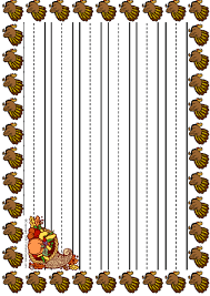 free printable thanksgiving stationery borders best images