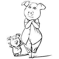 stunning coloring pages pigs piglets contemporary printable
