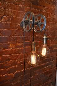 hanging light pulley light wall light industrial