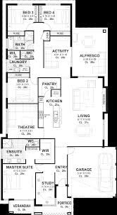 4 bedroom house floor plans 4 bedroom house plans home designs perth vision one homes