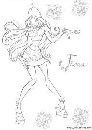 Coloriages Winx Club Flora Coloriage Winx Bloomix Musa  blogggerinfo
