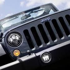 stock jeep headlights amazon com jw speaker 8700j b black led headlight set of 2