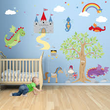 knight and dragons nursery wall art scene made from self knight and dragons nursery wall art scene made from self adhesive fabric captivate your