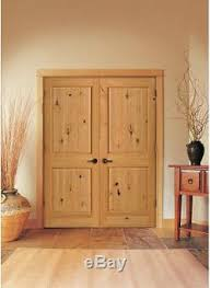 Knotty Pine Interior Doors Knotty Alder 2 Panel Square V Groove Raised Solid Wood