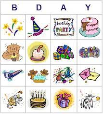 kid printables printable birthday bingo cards