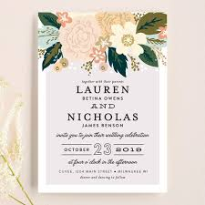 floral wedding invitations classic floral wedding invitations by alethea and ruth minted
