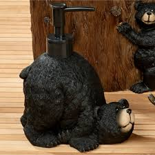 Moose Bathroom Accessories by Exploring Critters Rustic Wildlife Bath Accessories