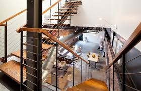 stair railing convention houston industrial staircase decorating